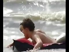 Boys Bareback on Beach