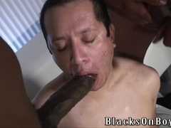 Victor Landeros gets his holes ripped apart by two black gays