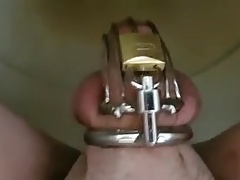 Peeing in chastity