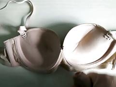 Cum on friend's bra 3