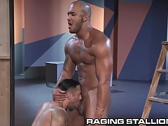 RagingStallion Bruno Bernal gets Ass Stuffed with Big Cock
