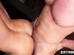 Muscle wolf anal sex and cumshot