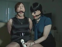 CD tied gagged and teased