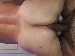 young hairy asian fuking a older guy as he rides my cock