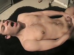 excellent barebacked huge cock drilling & playing with his cock