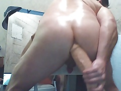 joey's butthole trying monster dildo and hitachi cute ass