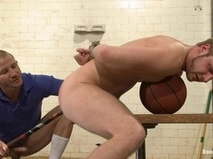 Brenn Wyson gets his ass toyed and fucked by lewd twink Brian Bonds