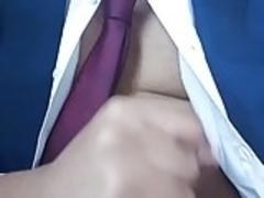 Wank in suit