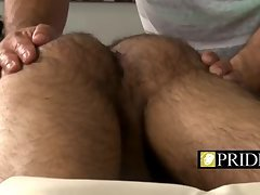 Kinky dude massage with big dick