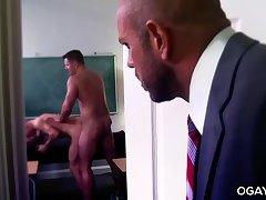 Hairy coach fucks the principal