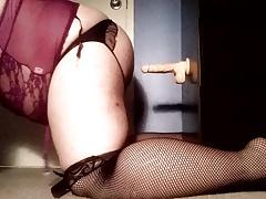 BBM self-fucking my tranny sissy ass