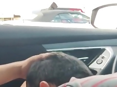Guy blows me in my car after seeing me jacking