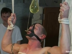 Kieron Ryan gets his ass toyed and brutally fucked in BDSM scene
