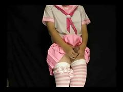Japanese Crossdresser Ejaculation