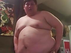 Gordo en su recamara 1