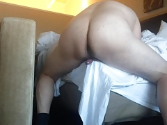 Husky Man Humping the Bed Corner