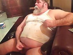 Chubby Cowboy Cums