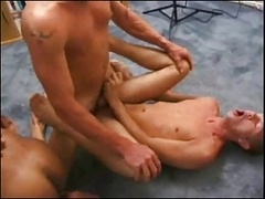 Man-loving Bareback Group intercourse #1