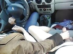 wankin in car