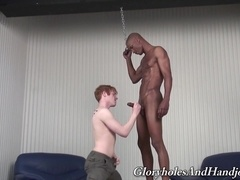 Redhead fairy Op Tyler gives hand to his black buddy Billy Long