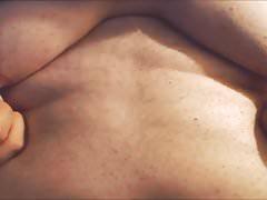 Huge Fat Moobs - Boobs close-up.  Big Nipples on Saggy Tits