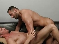 Daddy masseur gives enjoyment to his young customer
