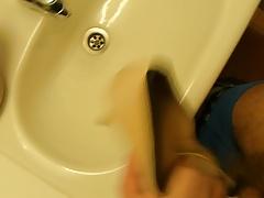 Cum in co-workers high heel (peep toes)