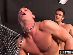 Muscle gay anal and cumshot