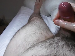 Big Dirty Cumshot from my thick hairy cock
