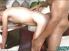 Sexy boy takes black huge penis