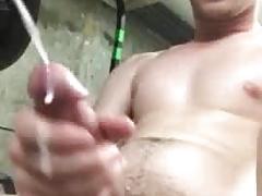 Cum at work
