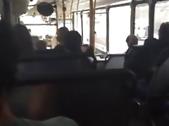 Helping hand in bus, and big cock ...