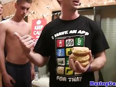 Cocksucking frat pledges fuck at frat party