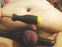 Big-Tits, Small-Cock, balls getting beat on