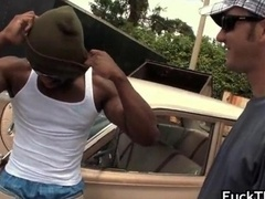 Black man-loving thug gets his tight poopshute