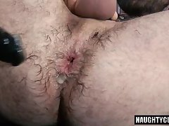 Hairy wolf fetish and cumshot