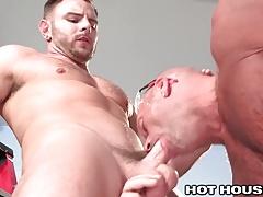 HotHouse Drilldo for Hairy Daddys Horny Ass