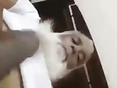 old Arab playing with her dick