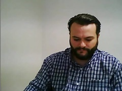 Spanish bear wanking in office