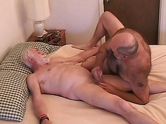 A couple of aged lads getting off