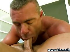 Gay straight guy blowjob deep ass fuck