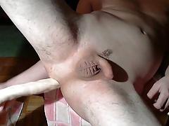 Deep anal belly bulge