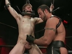 Noah gets strung up and additionally tortured homo BDSM 2