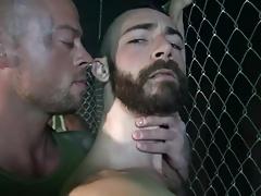 two hunks fuck a hairy bottom