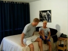 Blonde gay drills his BF's ass after mutual oral sex
