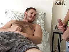 Hairy Daddy Wakes up to Kory Houston Jerking Off to Him