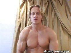 Blond Solo Guy Beating Off