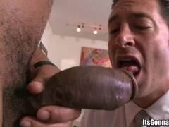 Ari Sylvio enjoys sucking and riding a huge black boner