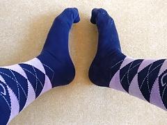 Cum again on knee socks