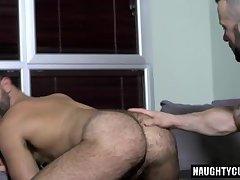 Hairy boy anal sex with cumshot